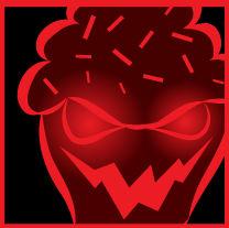Evil cupcake icon 3