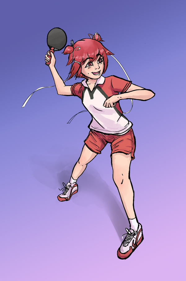 a Blazing Ping Pong girl by karidyas