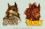 Badges - Sua and Demon