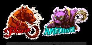 Badge - Phenix and Amethyste