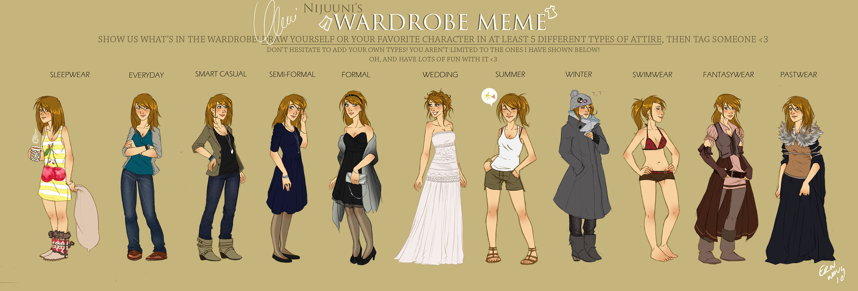 Clemi's Wardobe Meme by Pample