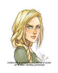Aelin Galathynius by Pample