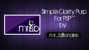 Simple Clarity Purp For PSP by mr-billionaire