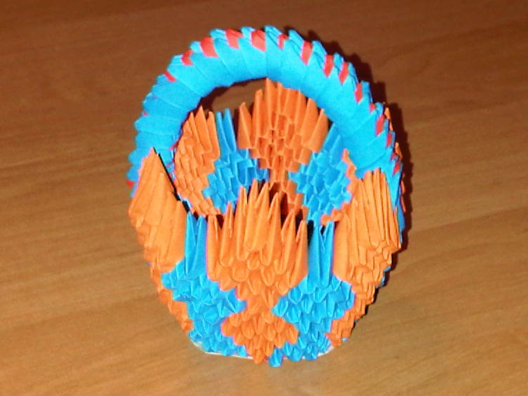3d Origami Basket By Suslis