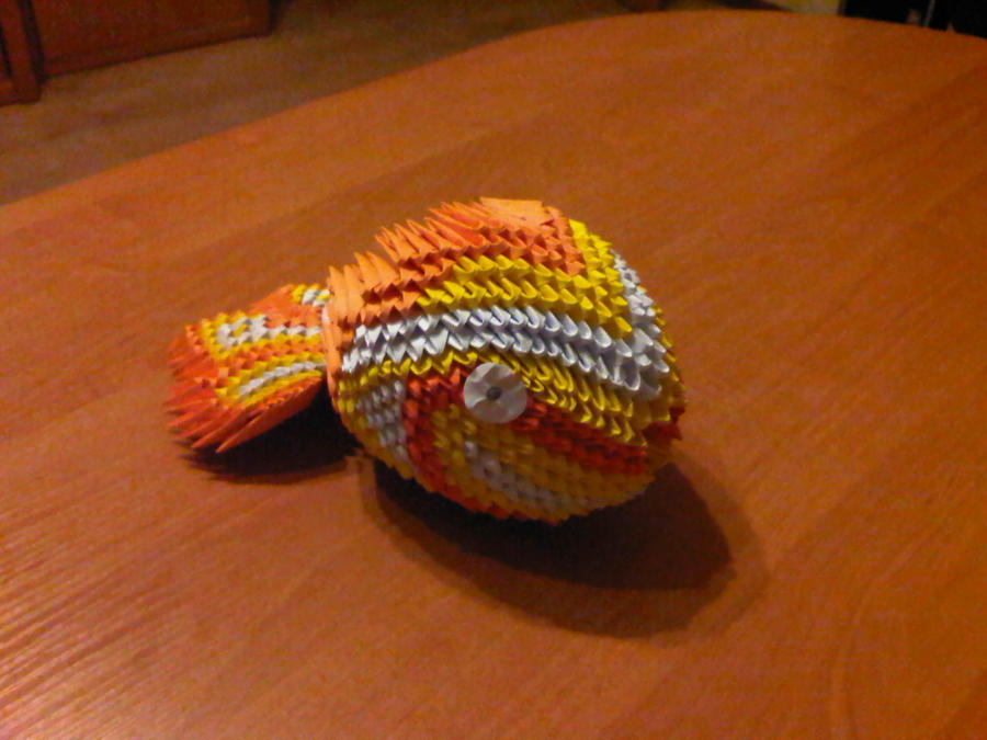 3d origami koi fish by suslis on deviantart for How to make origami koi fish