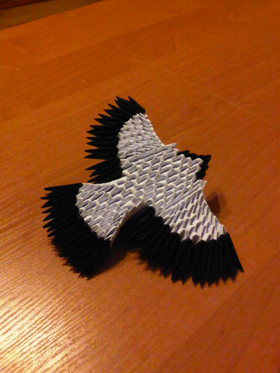3d origami eagle by suslis