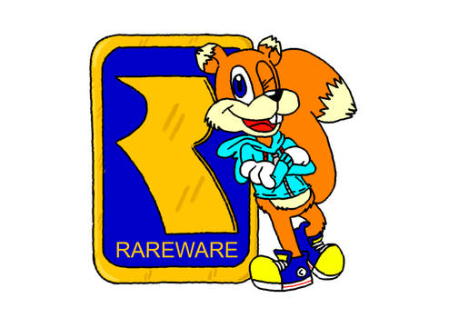 Conker and the old Rareware Logo by SuperMimoBroxx