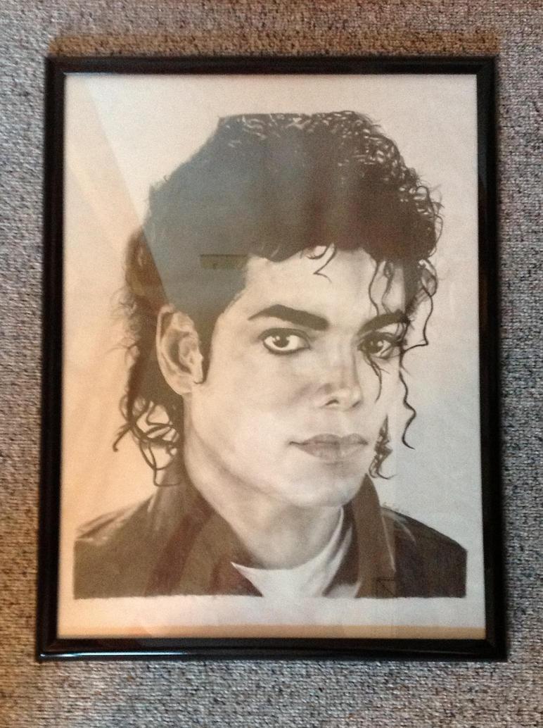 Michael Jackson (grid drawing framed) by EmmieSR14