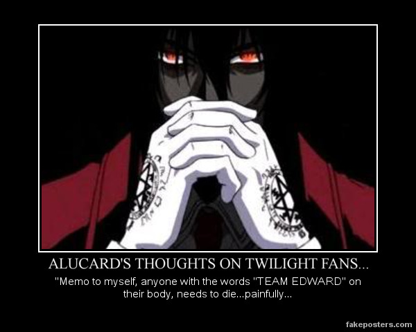 Alucard's Thoughts on Twilight by Wolfprincess87