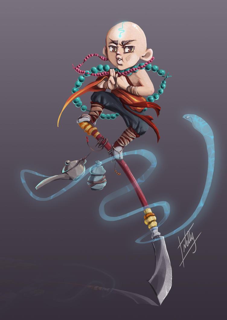 warrior Monk by Ninozilla