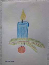 Kerze / Candle by Katinka-Duval