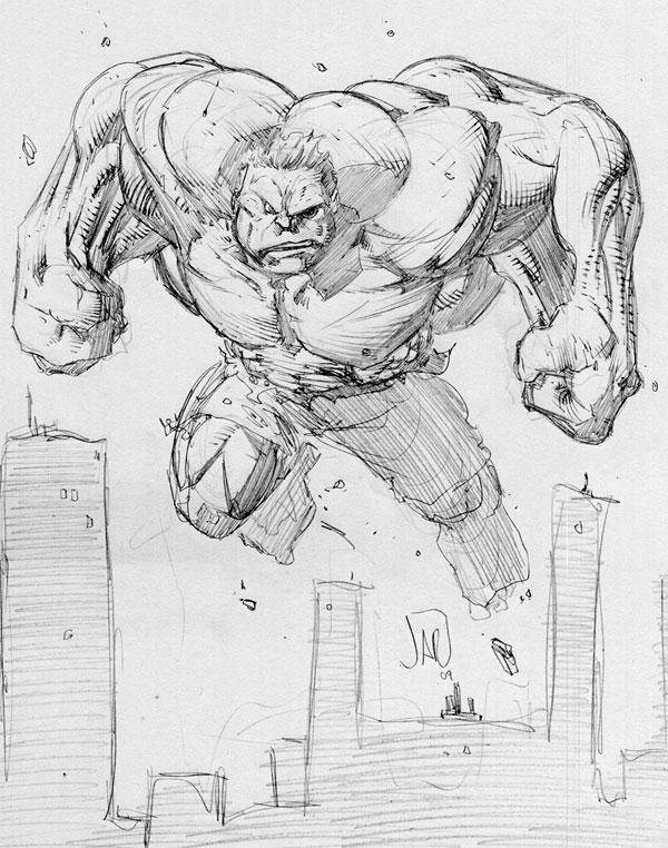 Hulk Sketch...... The Incredible Hulk Sketch