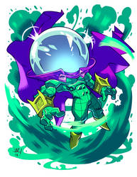 Chibi Mysterio by jonathan-rector