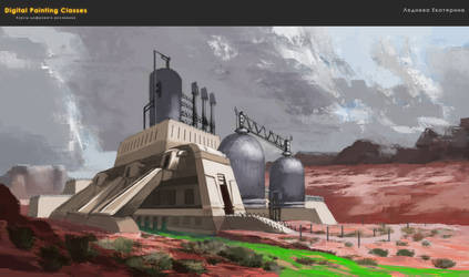 atmospheric sketch - power station