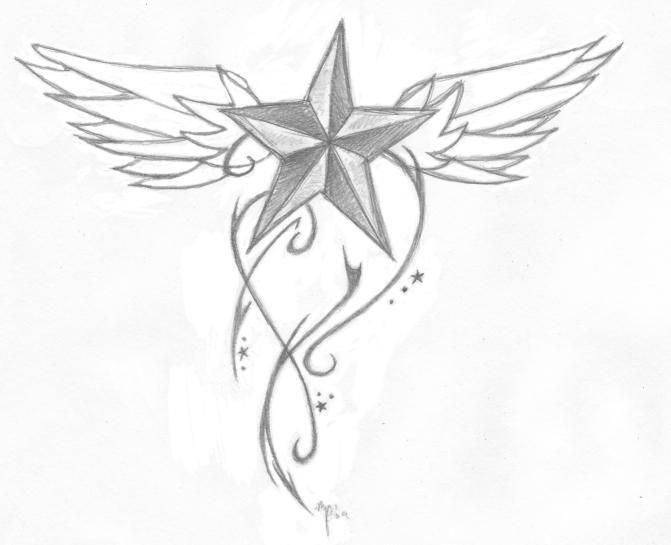 Nautical star tattoo design by jkthedragon