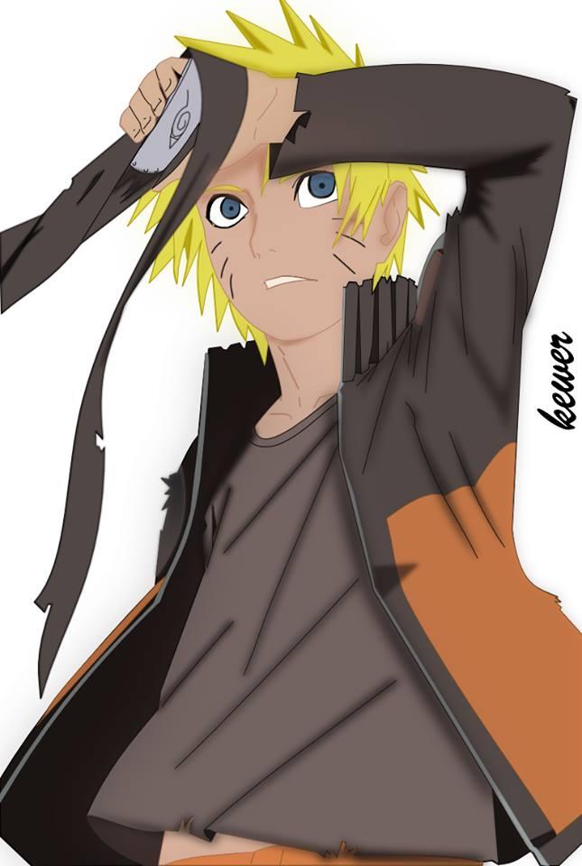 Uzumaki Naruto on Inkscape by gabrielalmir10