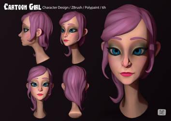 Cartoon Girl 01 by eimiko-chan
