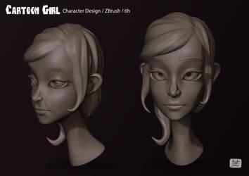 Cartoon Girl 02 by eimiko-chan