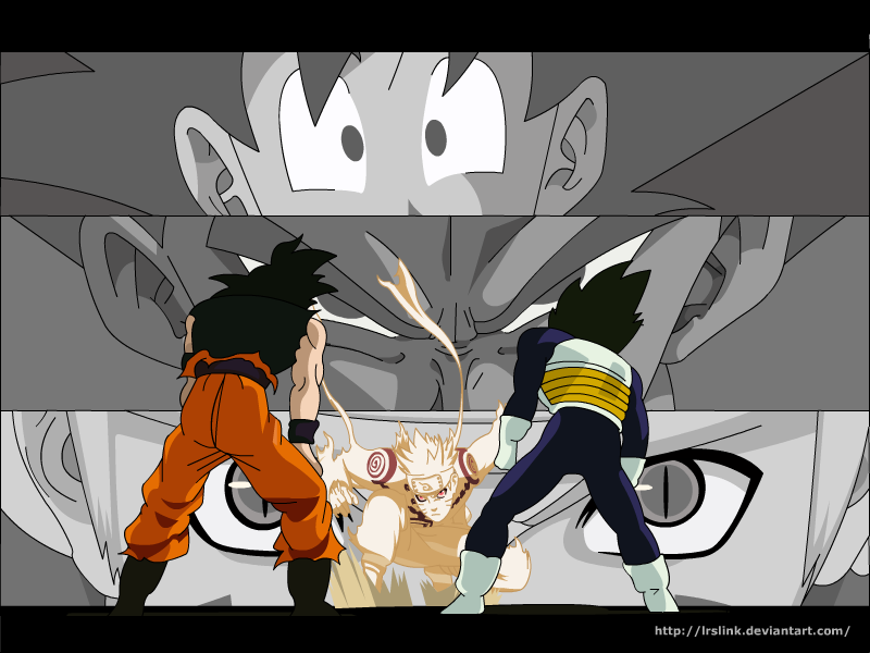 Goku Vegeta Naruto LrslinkVegeta Vs Naruto