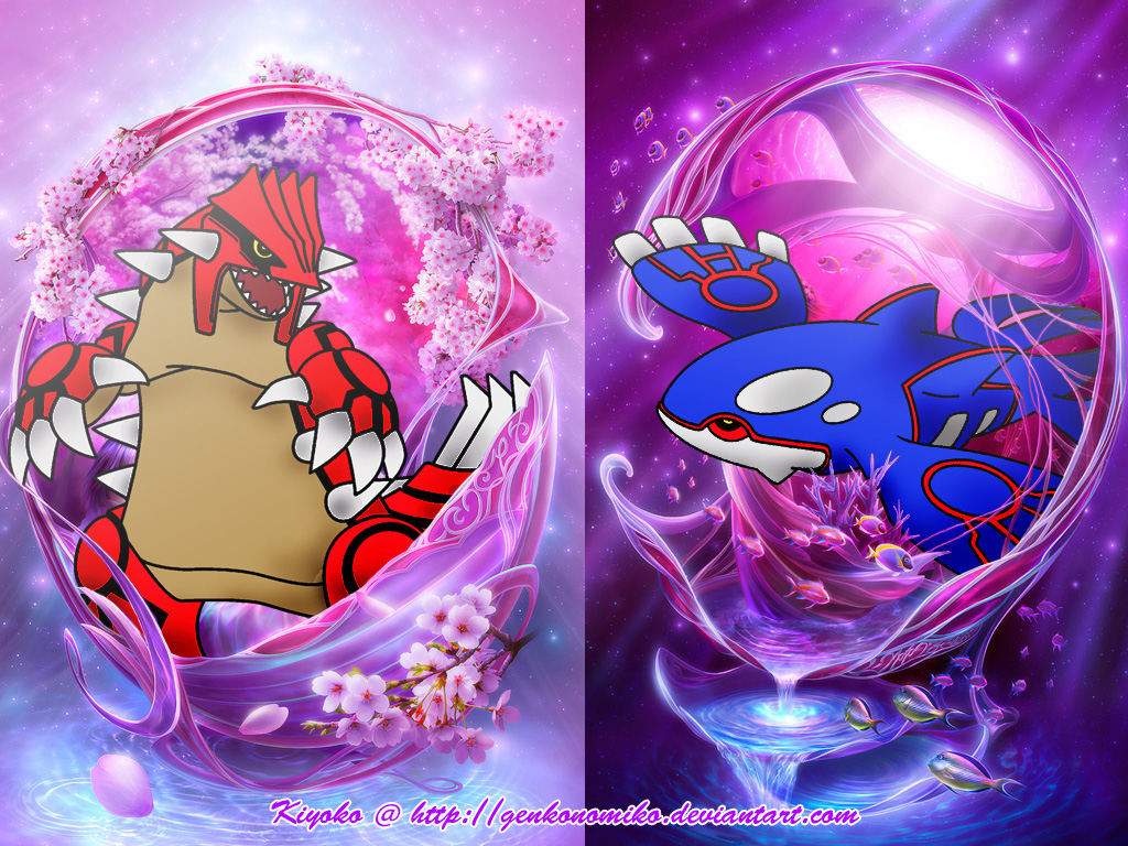 Wallpaper groudon and kyogre by genkonomiko on deviantart - Pictures of groudon and kyogre ...