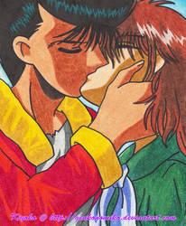 Yusuke and Keiko Kissing by GenkoNoMiko