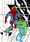 SPIDEY VS lizard
