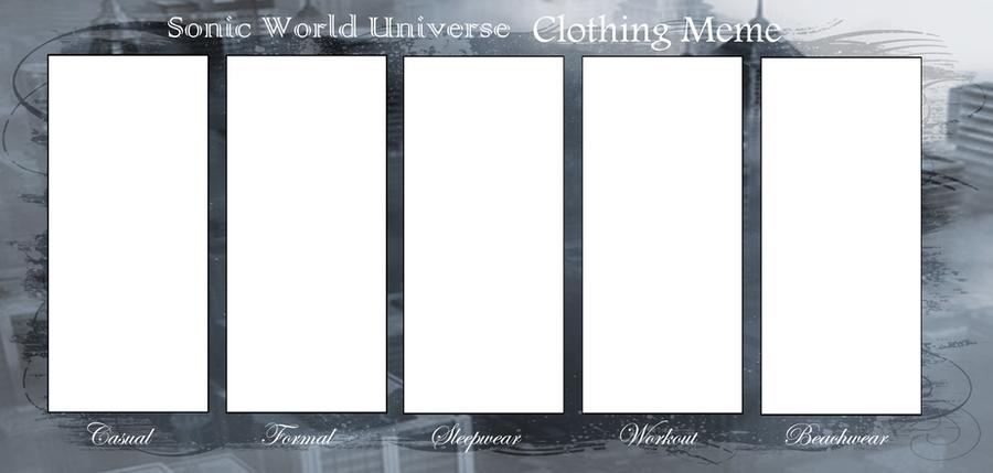 Sonic World Clothing Meme by Hidekidragon34
