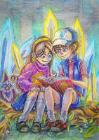 Dipper and Mabel by KoTana-Poltergeist