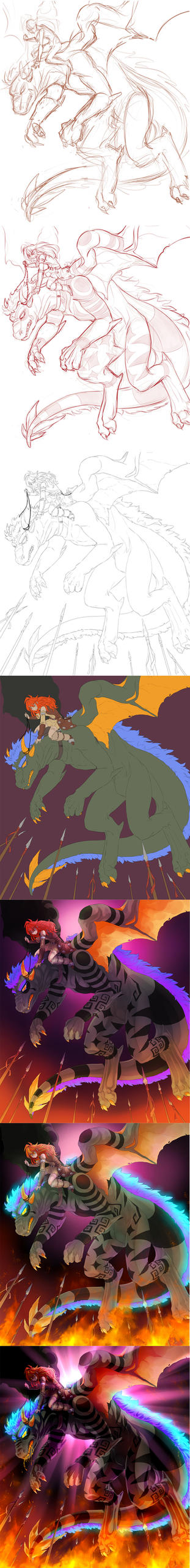 Steps_dragon Flight by KoTana-Poltergeist