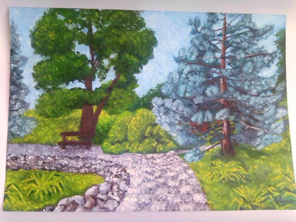 Landscape (Daydreaming) by AgnesKilljoy