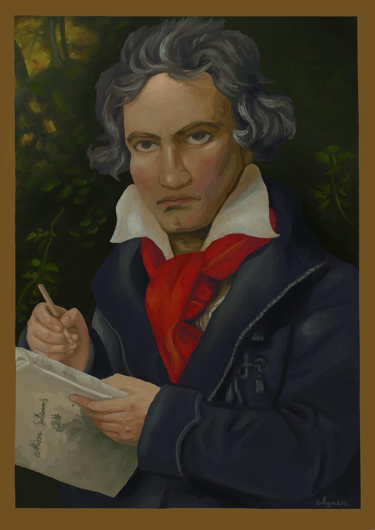 Ludwig van Beethoven by AgnesKilljoy