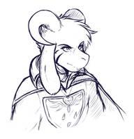 Asriel Sketch by Crackersmaus