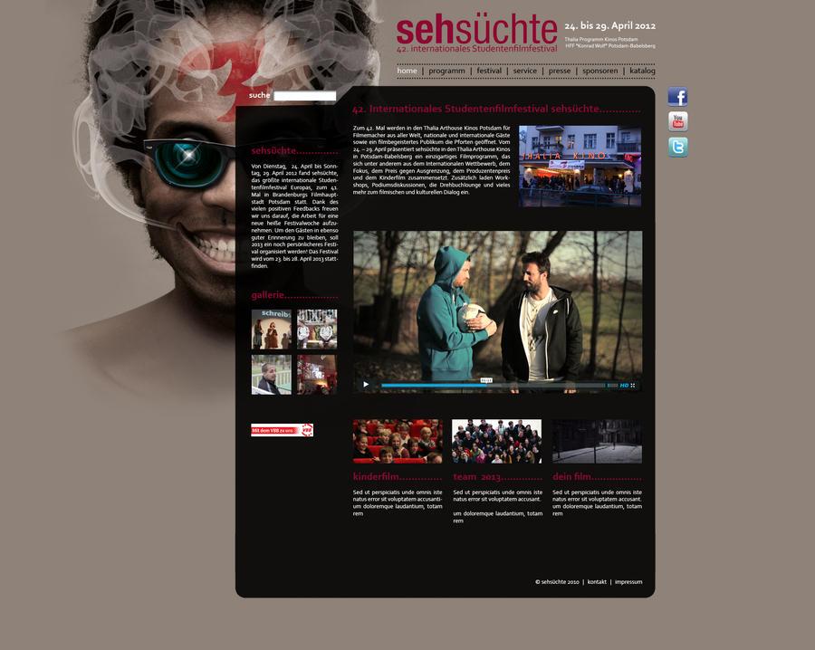 Sehsuechte Website by ValueDesignz