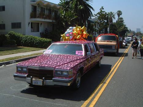 Pink Leopardskin Car