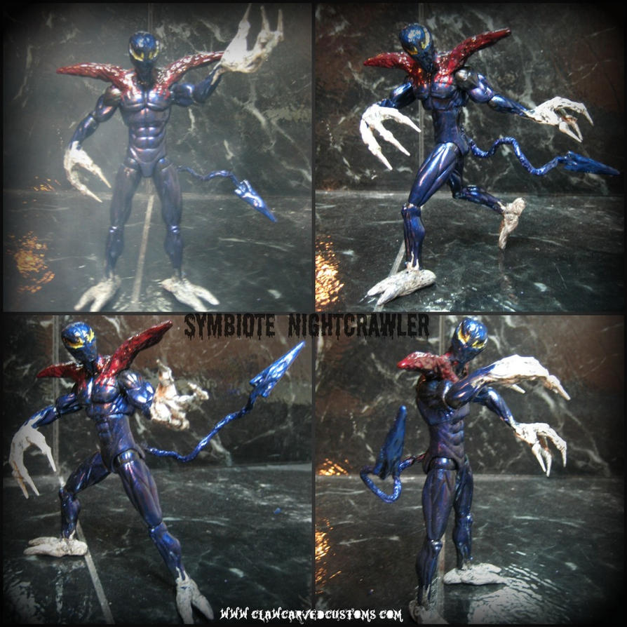 Symbiote Nightcrawler Figure by symbiote-x
