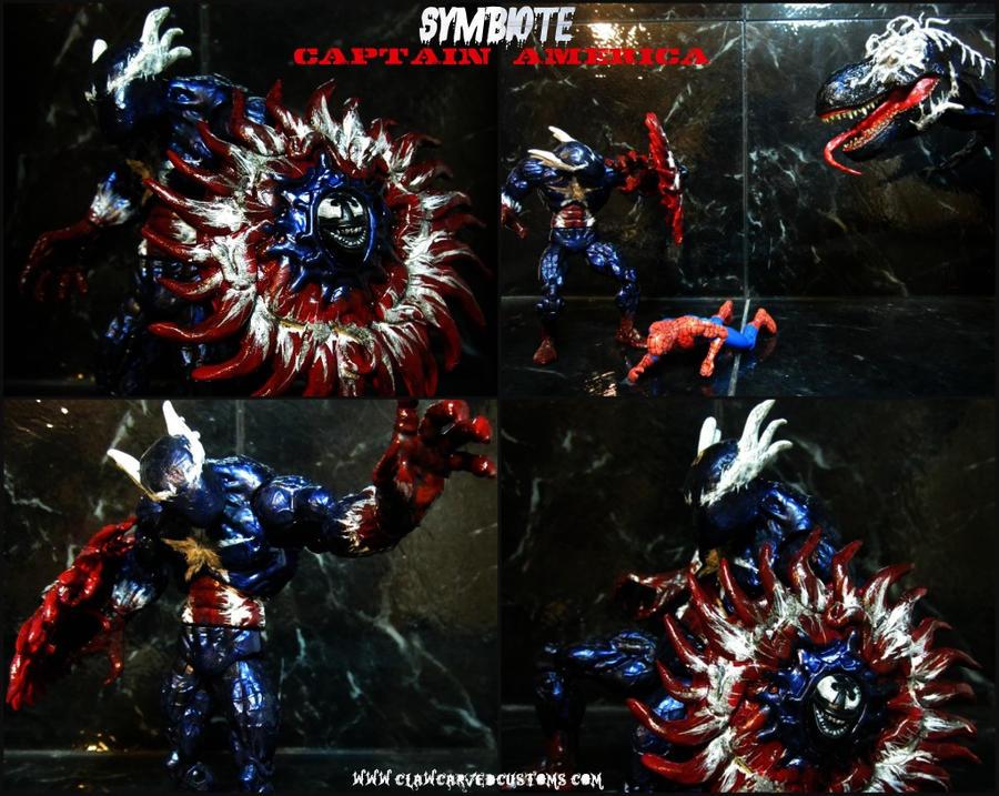 Symbiote Captain America by symbiote-xSymbiote Thing