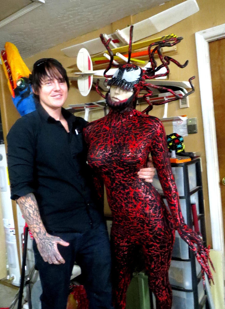 CARNAGE GIRL COSTUME by Venom Costume Paint