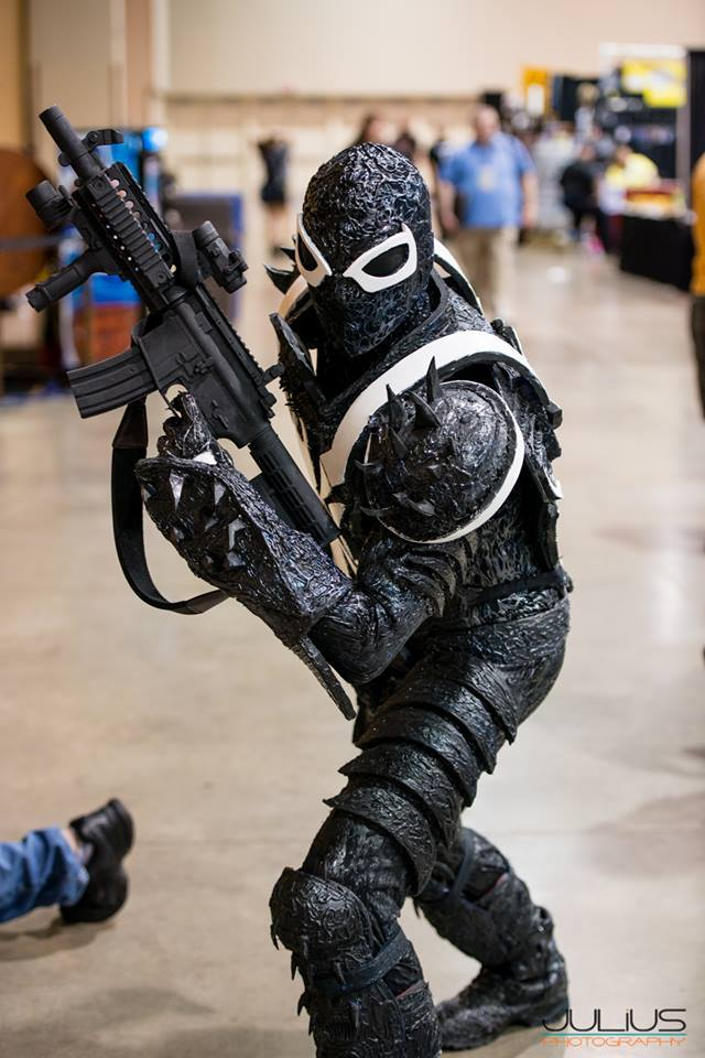 MY COMPLETED FLASH THOMPSON AGENT VENOM COSTUME by ...