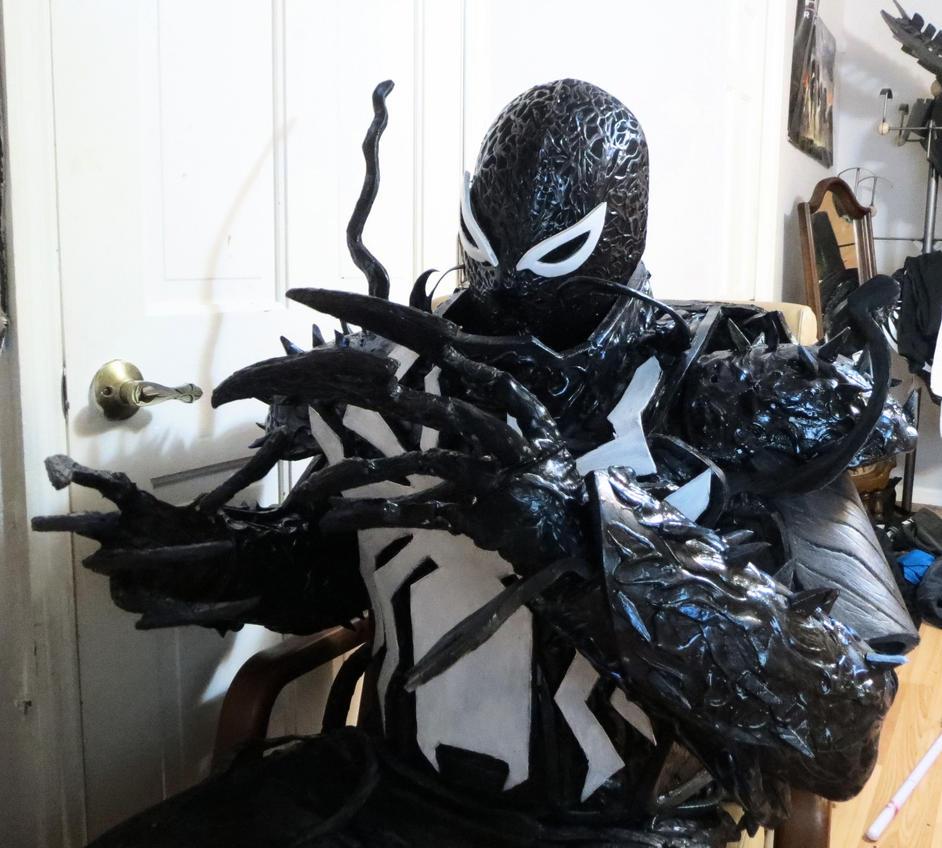 my agent venom costume by symbiotex on deviantart