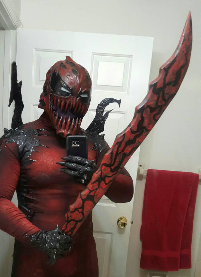 symbiote deadpool cosplay  by symbiote-x