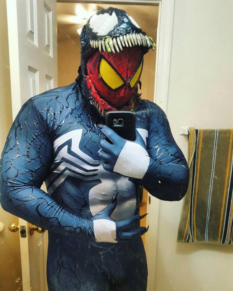 Venom cosplay by symbiote-x