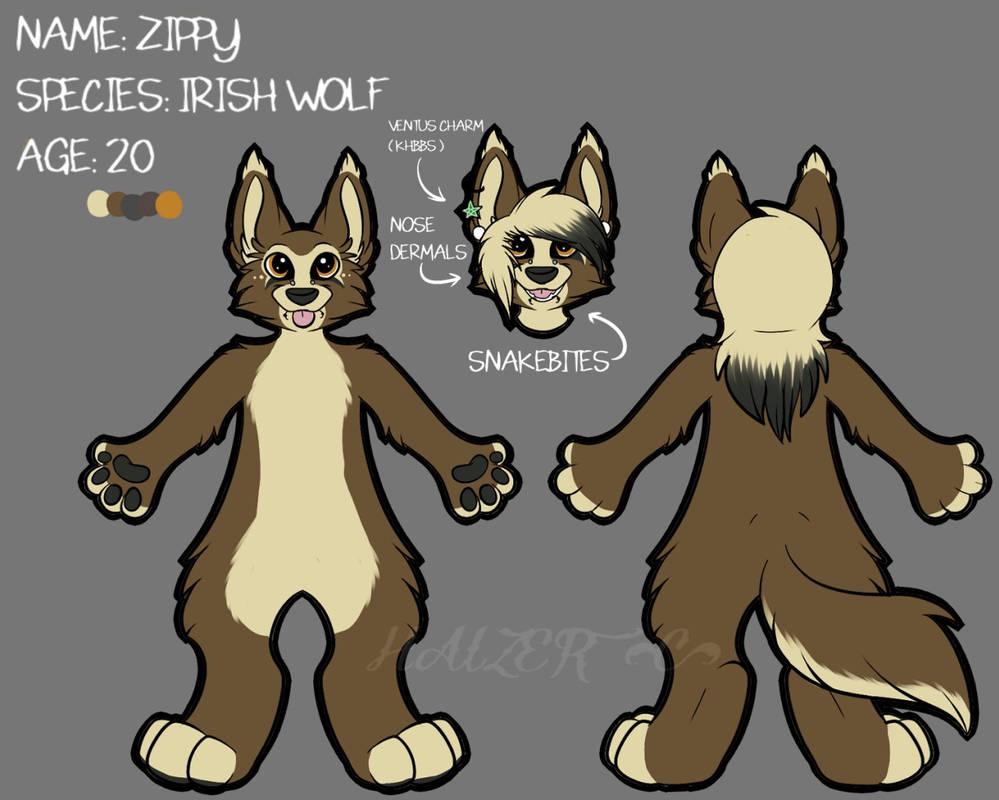 Zippy The Irish Wolf Ref Sheet 2015