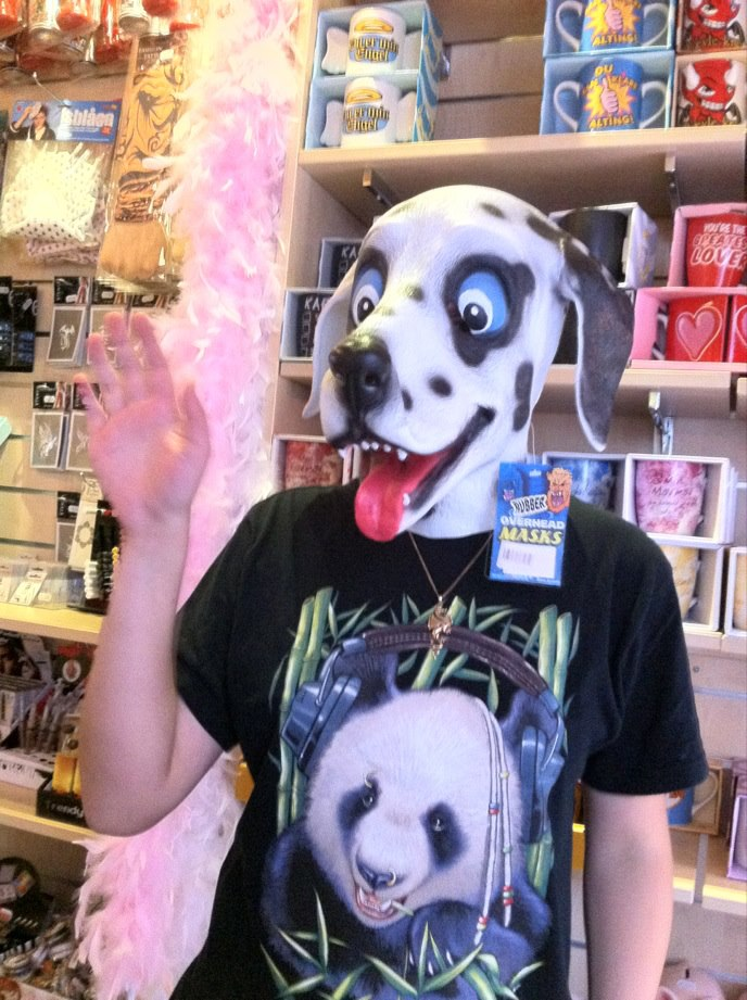 Happy dog mask by LeoOfTheDeaD