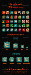 Social Media Grunge Icons by emvalibe