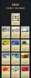 2016 Grunge Calendar by emvalibe