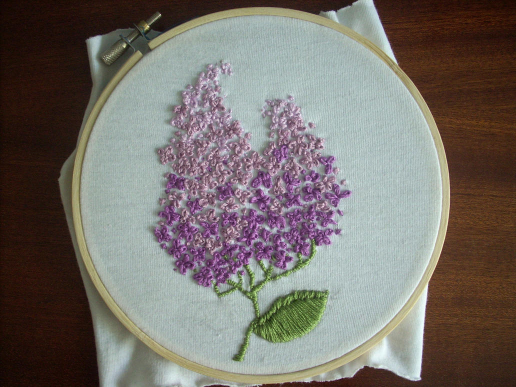 Lilac simple embroider...