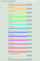 Pastel progress bars (custom widgets) by UszatyArbuz