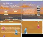 Sunset on a beach profile design 'n coding by UszatyArbuz