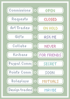 Tiny pixel art status icon pack by UszatyArbuz