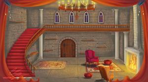 Castle room background
